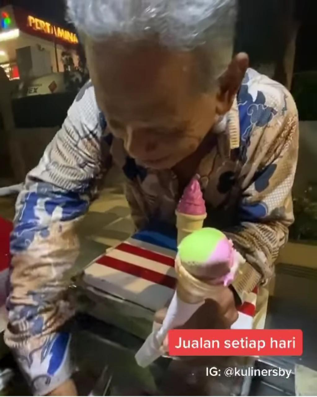 Mbah Siamin, Kakek 66 Tahun yang Tetap Semangat Jual Es Krim Orlando
