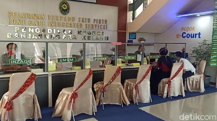 Suasana di PN Banjarnegara, Senin (12/10/2020).