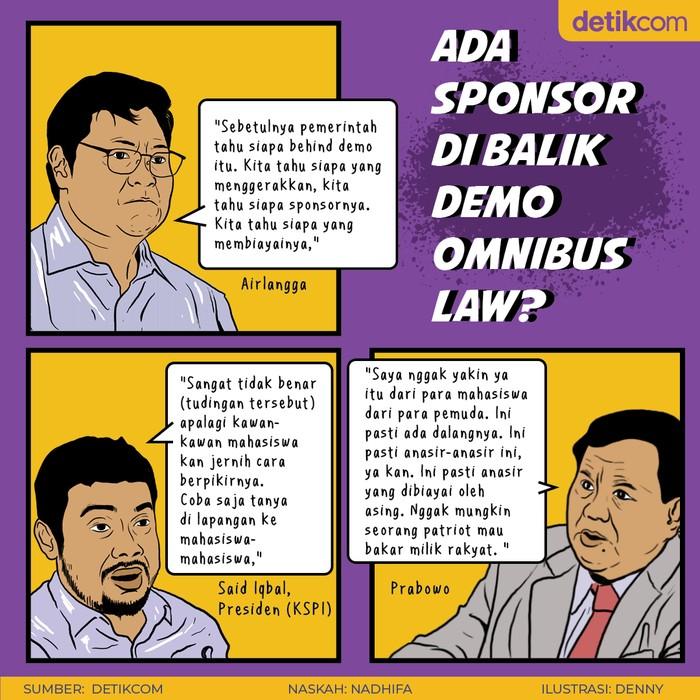 Ada Sponsor Demo Tolak Omnibus Law?