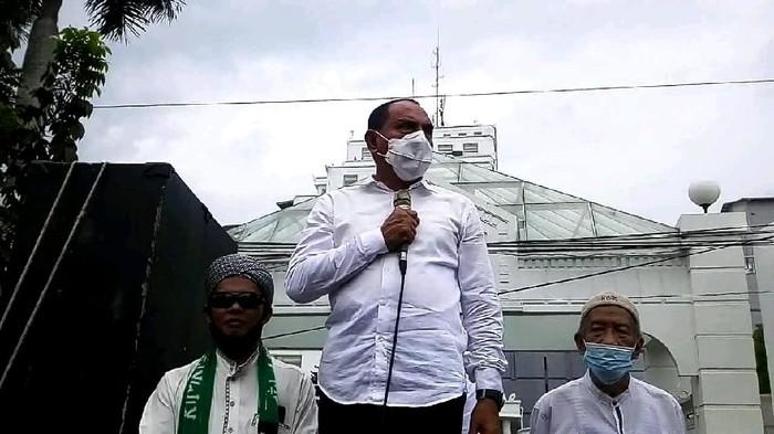 Edy Rahmayadi di Medan (Datuk Haris-detikcom)