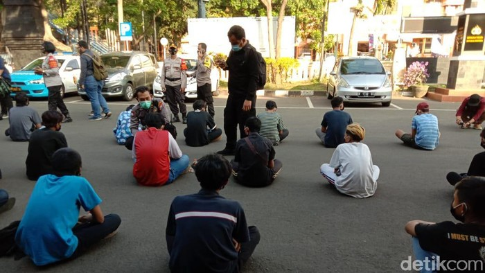 Polisi Amankan 36 Anak Diduga Ikut Demo Omnibus Law di Kota Malang