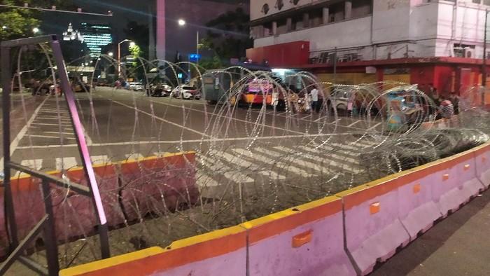 Polisi masih berjaga di kawasan Harmoni, Jakarta Pusat (Arun-detikcom)