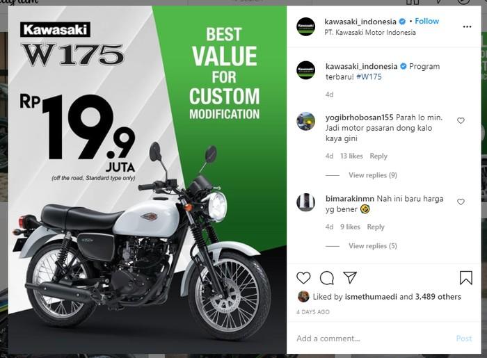 Program promosi harga off the road Kawasaki W175