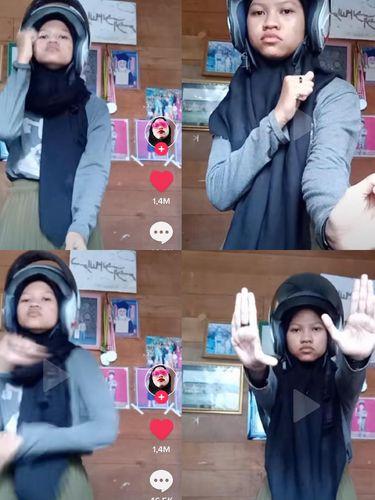 Siti Rahmaniah yang viral di TikTok mode getar