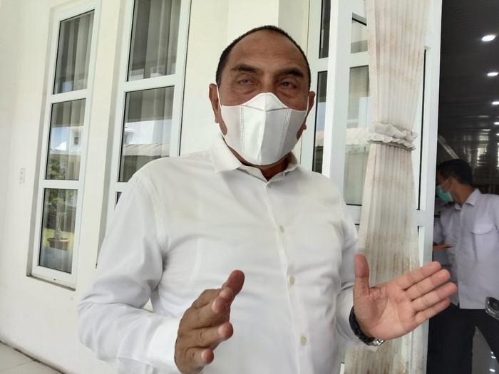 Gubsu Edy Rahmayadi di Medan (Ahmad Arfah-detikcom)
