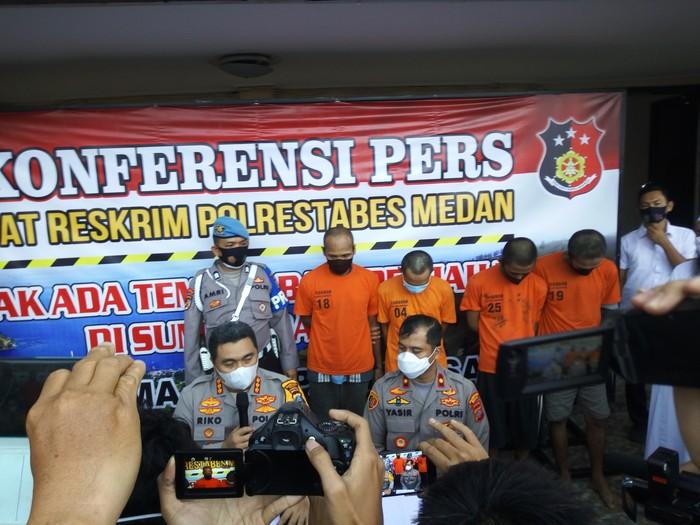 Konferensi pers di Polrestabes Medan (Datuk Haris-detikcom)