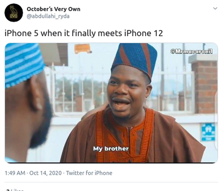 meme iphone 12 vs iphone 5 twitter