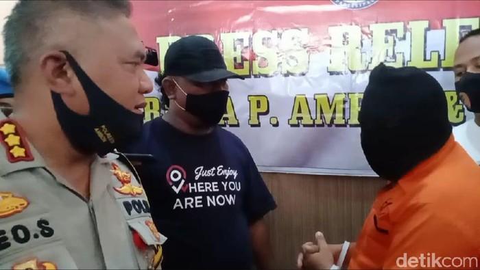 Polisi mengamankan suami-istri di Ambon