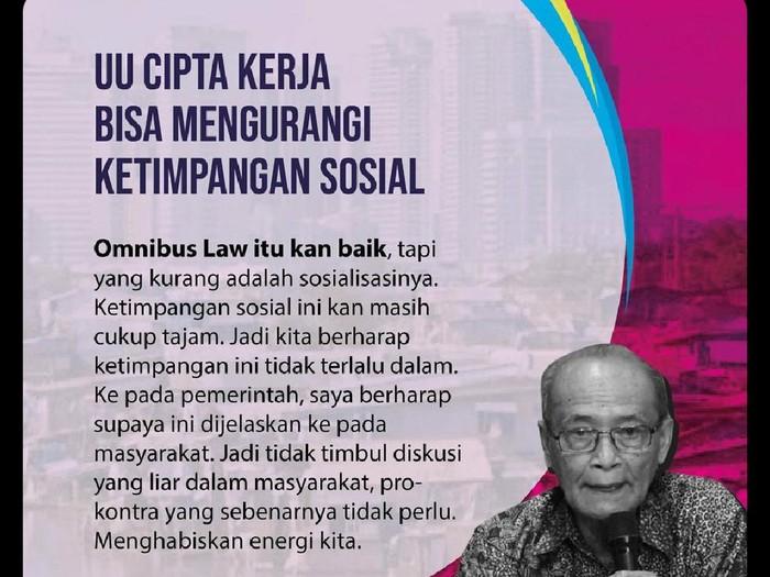 Tangkapan layar poster pernyataan Buya Syafii Maarif Soal Omnibus Law, Rabu (14/10/2020).