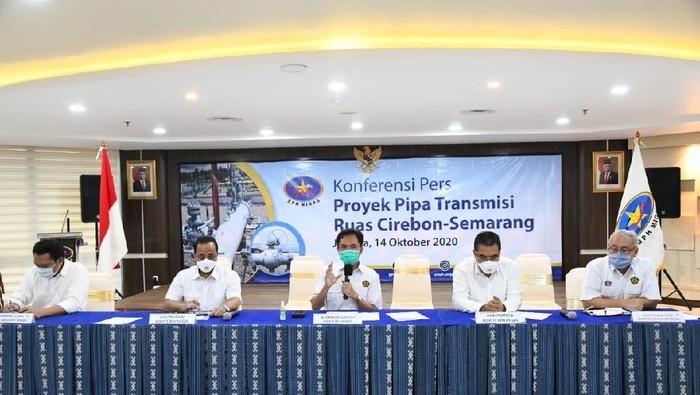 BPH Migas konferensi pers soal proyek pipa gas Cirebon-Semarang