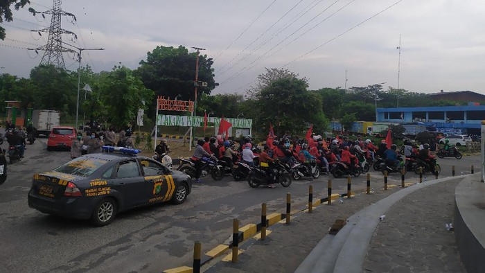 Massa GBJ telah meninggalkan lokasi demonstrasi di JIEP Pulogadung, Jaktim