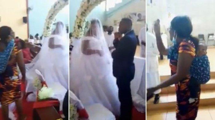 Wanita menggagalkan pernikahan suaminya.