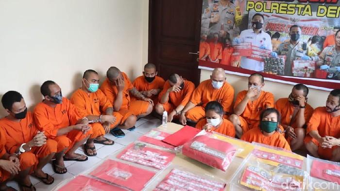 Polresta Denpasar merilis kasus narkoba.