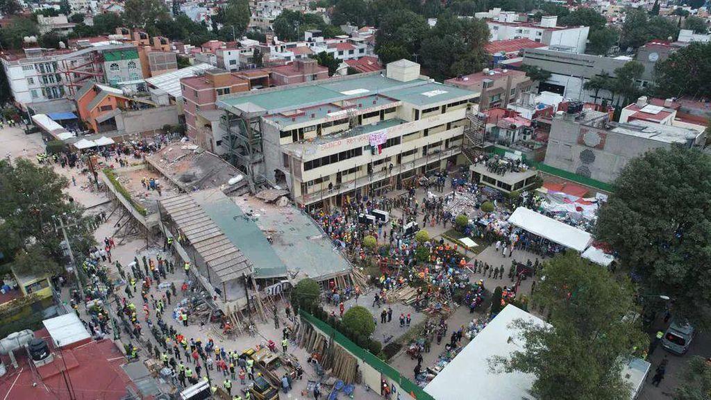 Pria Meksiko Dibui 208 Tahun Gegara Sekolah Ambruk Saat Gempa