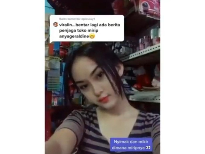 Viral penjaga warung kelontong di Cianjur mirip Anya Geraldine