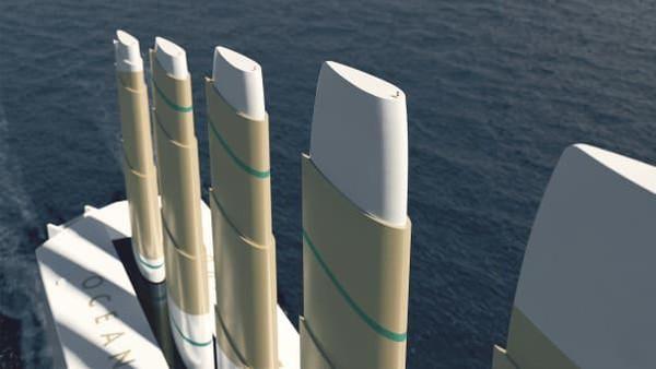Swedia bakal membangun kapal layar pengangkut bertenaga angin terbesar di dunia.Namanya Oceanbird (Foto: CNN)
