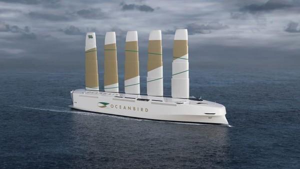 Kapal pengangkut mobil transatlantik ini dirancang oleh Wallenius Marine. Pembuat kapal itu telah mendapat dukungan dari pemerintah Swedia dan beberapa lembaga penelitian (Foto: CNN)