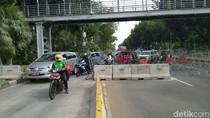 Jelang Demo, Kendaraan Dialihkan ke Busway di Jl Medan Merdeka Barat