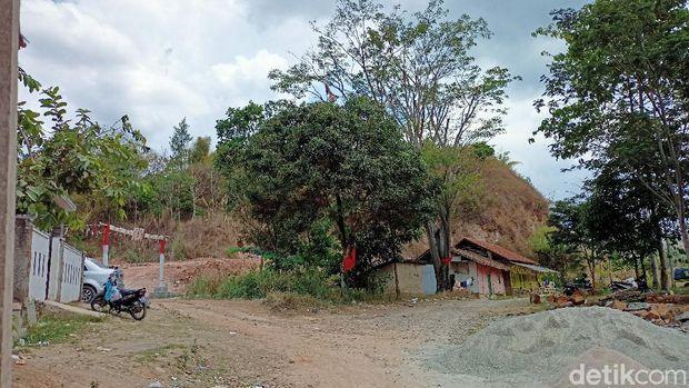 Lokasi pemburuan 'kuyang' di Baleendah, Kabupaten Bandung.