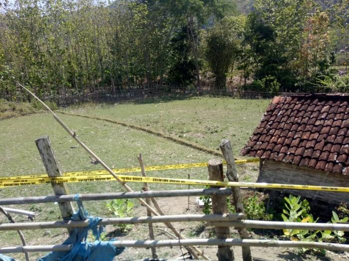 Lokasi temuan mayat bayi baru lahir di Sumbawa Barat.