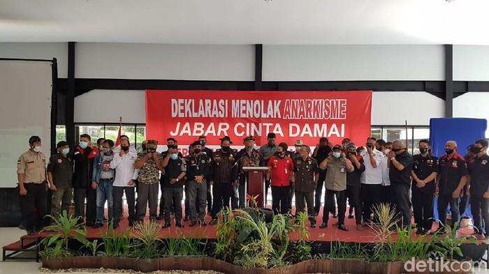 Ormas di Jabar deklarasi tolak aksi anarkis.