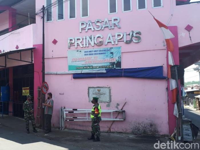Pasar Pringapus Kabupaten Semarang ditutup tiga hari, Jumat (16/10/2020).
