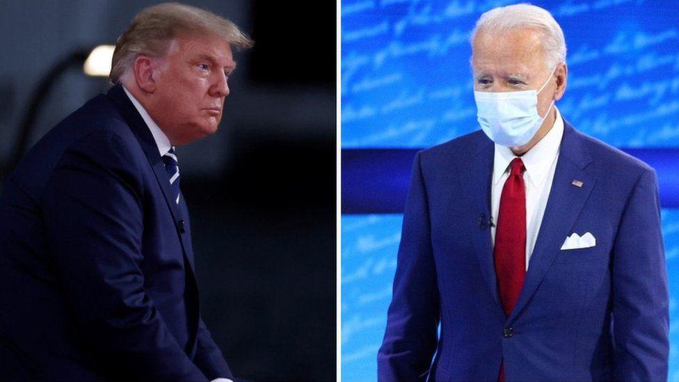 Pemilihan Presiden Amerika: Trump dan Biden mengelak dari pertanyaan di forum tanya-jawab