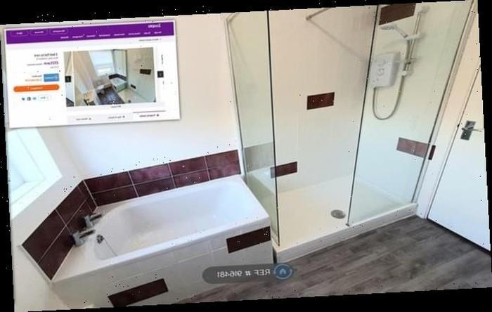 Apartemen dengan bathtub yang cuma setengah.