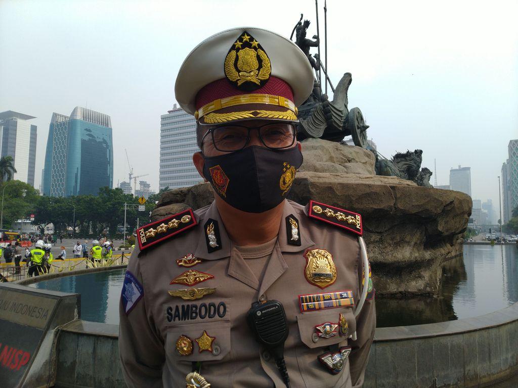 Direktur Lalu Lintas Polda Metro Jaya Kombes Sambodo Purnomo Yogo.