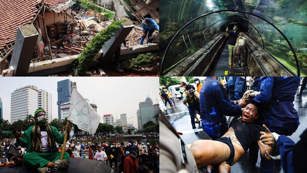 Top 5 Foto Pekan Ini: Longsor di Ciganjur-Aksi PA 212-Bangkok Bergolak