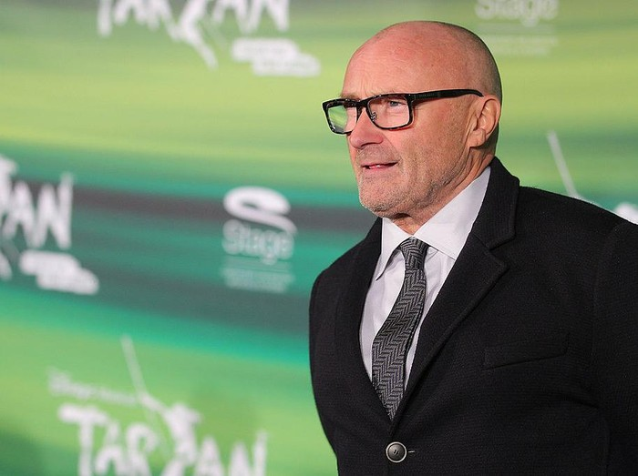 STUTTGART, GERMANY - NOVEMBER 21:  Phil Collins attends the green carpet arrivals for the Stuttgart Premiere of the musical Tarzan  at Stage Apollo Theater on November 21, 2013 in Stuttgart, Germany.  (Photo by Thomas Niedermueller/Getty Images)