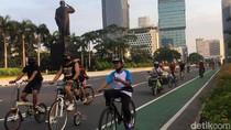Suasana Minggu Pagi di Sudirman-Thamrin, Tetap Olahraga di Tengah Pandemi