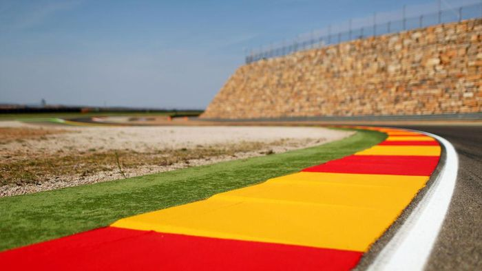 ALCANIZ, SPAIN - SEPTEMBER 21:  A general view of the stone wall at turn 13 during previews for the MotoGP of Aragon at Motorland Aragon Circuit on September 21, 2017 in Alcaniz, Spain.  (Photo by Dan Istitene/Getty Images)
