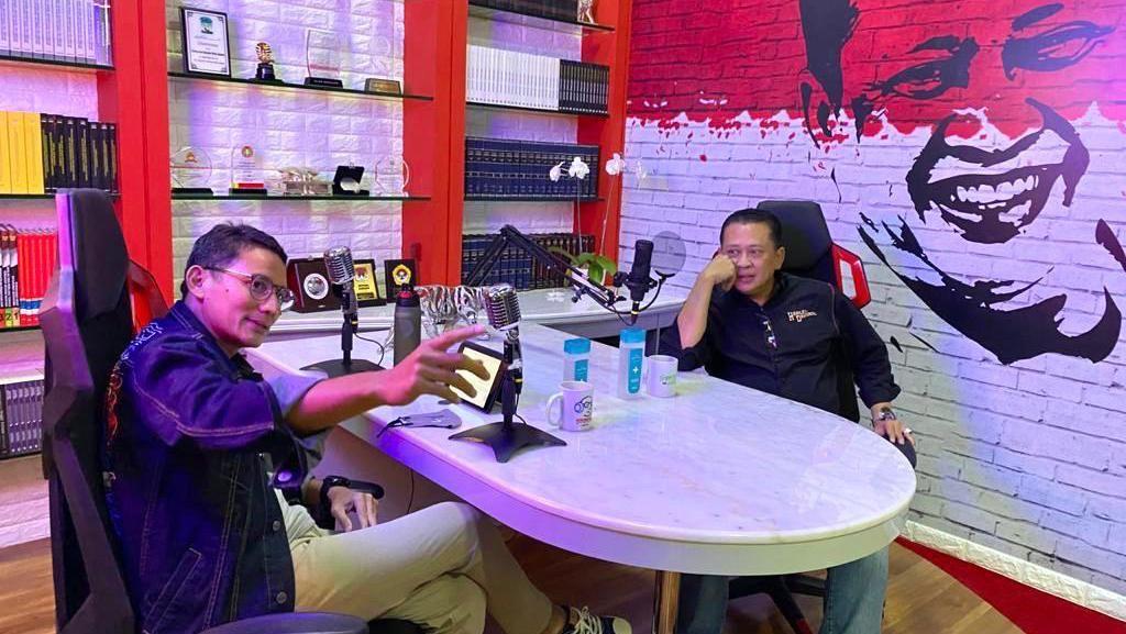 Bareng Sandiaga, Bamsoet Bahas Pengembangan UMKM-UU Cipta Kerja