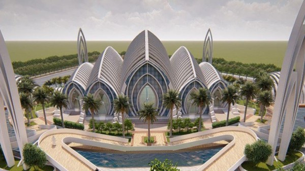 Masjid itu tepatnya bakal dibangun di kawasan baru di kaki Gunung Slamet, Kawasan Bung Karno, Kota Baru Purwokerto.