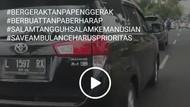 Ambulans yang Dihalangi Mobil hingga Viral Bawa Korban Kesulitan Napas