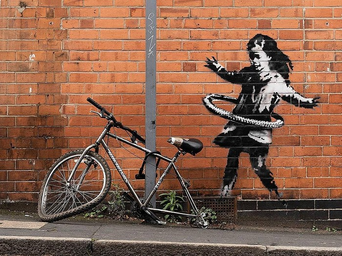 Mural Banksy di Nottingham, Inggris