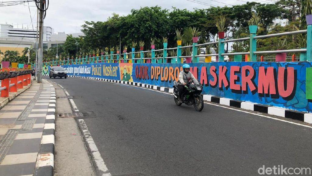Mural di Sudut Kota Surabaya Ajak Warga Terapkan Protokol Kesehatan