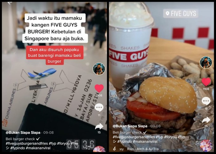 Ngidam Burger Five Guys, Netizen Indonesia Ini Terbang ke Singapura