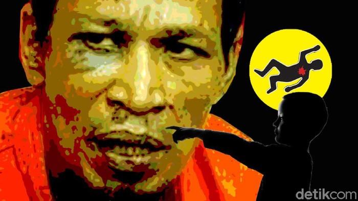 Ilustrasi Samsul Bahri, pemerkosa dan pembunuh di Aceh