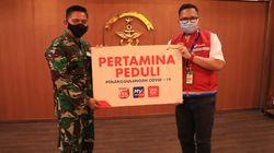 Pertamina Beri Bantuan Masker & Face Shield ke Kolinlamil TNI AL