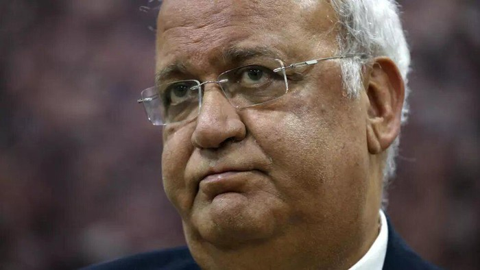 Saeb Erekat, secretary-general of the Palestine Liberation Organization, is in critical condition after being admitted to an Israeli hospital with the coronavirus ABBAS MOMANI AFP/File