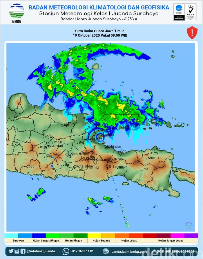 Sejumlah Wilayah di Jatim Berpotensi Hujan, Surabaya Juga