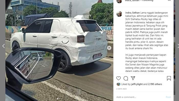 Spyshot Daihatsu Rocky di Indonesia
