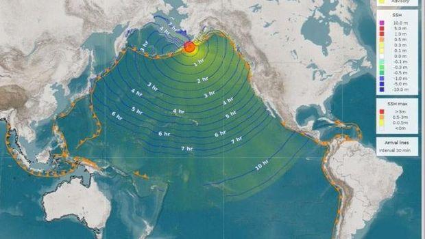 Ilustrasi gempa Alaska