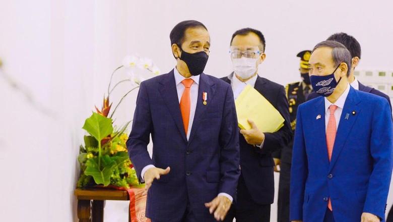 Jokowi bertemu PM Jepang Yoshihide Suga (Foto: Muchlis Jr - Biro Pers Sekretariat Presiden)