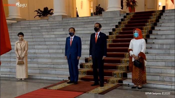 Jokowi bertemu PM Jepang Yoshihide Suga (Foto: Tangkapan layar YouTube Setpres)