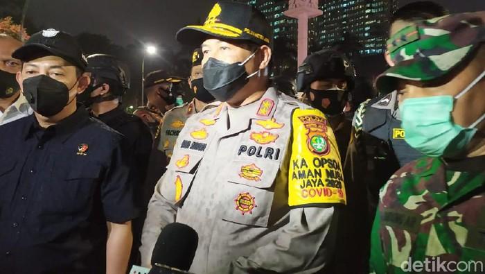 Kabareskrim, Kapolda Metro Jaya, Pangdam Jaya menyisir lokasi demo Patung Kuda