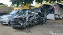 Begini Kondisi Mobil Ketua Gerindra Pekalongan yang Kecelakaan di Tol