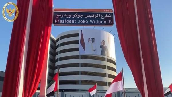 Di Abu Dhabi baru saja diresmikan nama Jalan President Joko Widodo St dalam bahasa Inggris yang menandai hubungan bilateral antar kedua negara, Senin kemarin (19/10) (KBRI UEA)